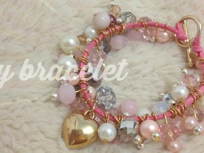 DIY : pink spring bracelet