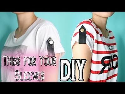 DIY: Rolled Up Sleeve Tabs