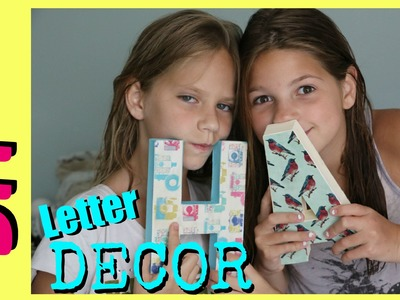 DIY Room Decorations Block Letter Decor | Cute Room Decor | Jazzy Girl Stuff