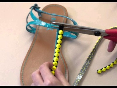 DIY Summer Shoes Part 4: The Studded Sandal - Mjtrim.com