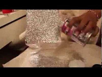 ♥DIY. Upgrade your makeup organizer. with Glitter!!♥