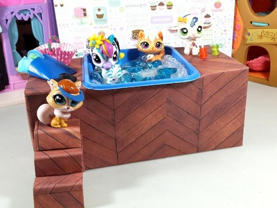 Easy DIY Custom LPS Doll Accessories: How to Make a Tiny Hot Tub Spa Jacuzzi
