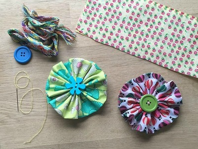 Easy Fabric Flower - a Great Sewing Pattern for Beginners