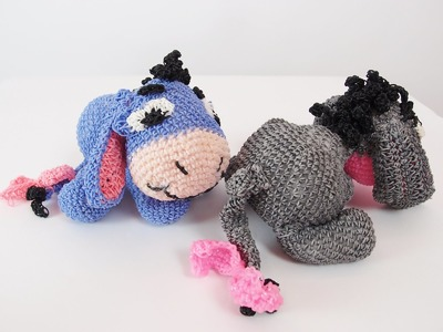 Eeyore Rainbow Loom Bands Amigurumi Loomigurumi Hook Only Tutorial Part 3 of 3