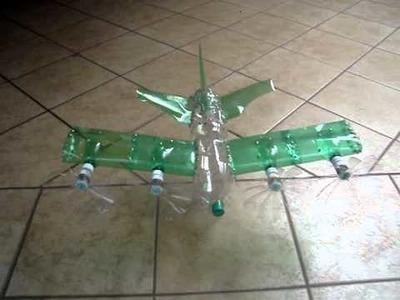 Eletra aviao de garrafa pet