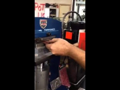 Embossing metal with paper stickers w. hydraulic press