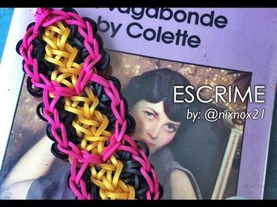 ESCRIME Rainbow Loom bracelet tutorial