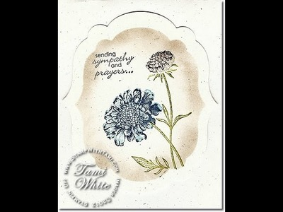 "Field Flowers ""Faux Layer"" Masked Card featuring Stampin' Up! products"