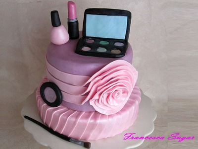 Fondant make up cake toppers - Trucchi in pasta di zucchero per torta