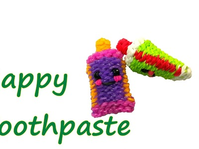 Happy Toothpaste Tutorial by feelinspiffy (Rainbow Loom)