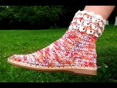 How To Crochet Summer Shoes - Tutorial Cisme Crosetate