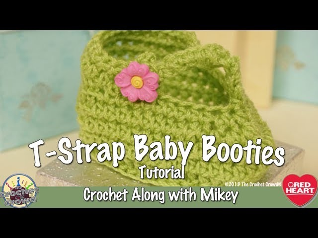 How to Crochet T-Strap Baby Booties Project