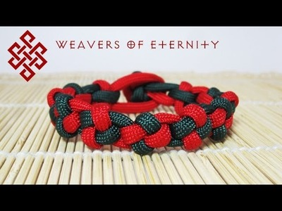 How to Make a Paracord Cross Knot Bracelet Tutorial