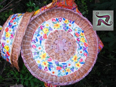 How to make a round basket bottom.  Part II.