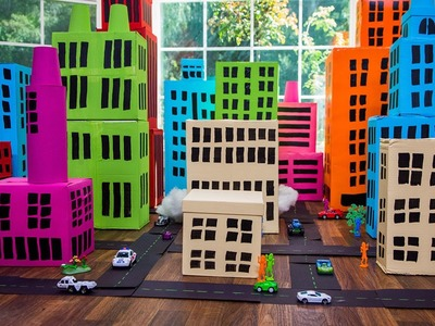 How to Make a Shoe box City