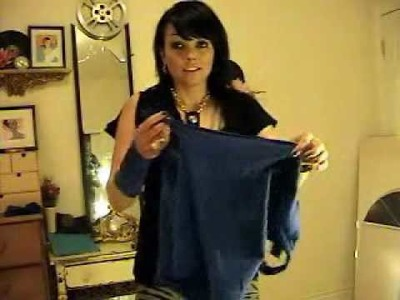 How To Make A Skirt Out Of A T-Shirt & Jeans | Kandee Johnson