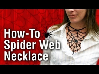 How to make a Spider Necklace using Puffy Paint