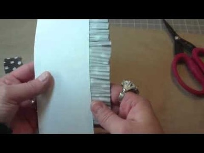 How to make border trims from Cupcake Baking Cups for your Scrapbook Layouts