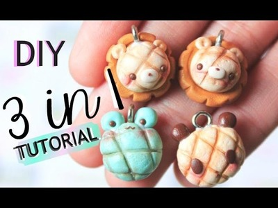How to make  Kawaii Melonpan Animals - Polymer Clay Tutorial
