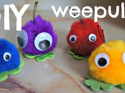 How to Make Weepuls - pom pom friends