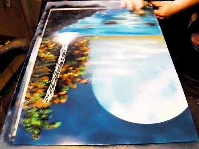 How to Spray Paint Art - Tropical Paradise