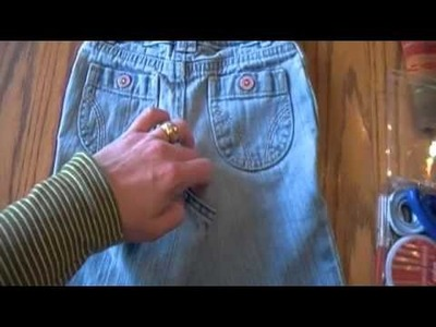Jeans to Skirt Tutorial