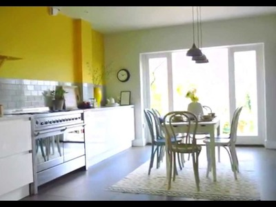 Kitchen Ideas: Create a yellow and grey colour scheme with Dulux