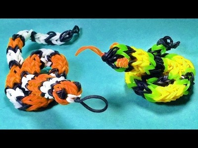 Loom Bandz Anleitung Deutsch Schlange (Loom Bands Deutsch Tiere, Rainbow Loom Deutsch)