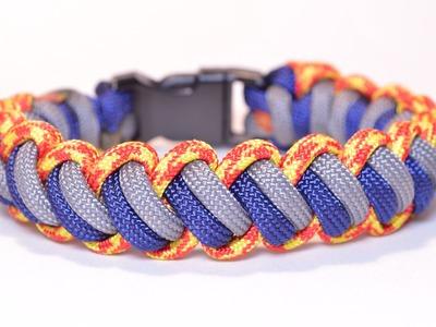 Make the 'Modified Curling Millipede' Paracord Survival Bracelet - BoredParacord