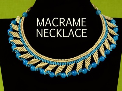 Nefertiti Macrame Necklace Tutorial