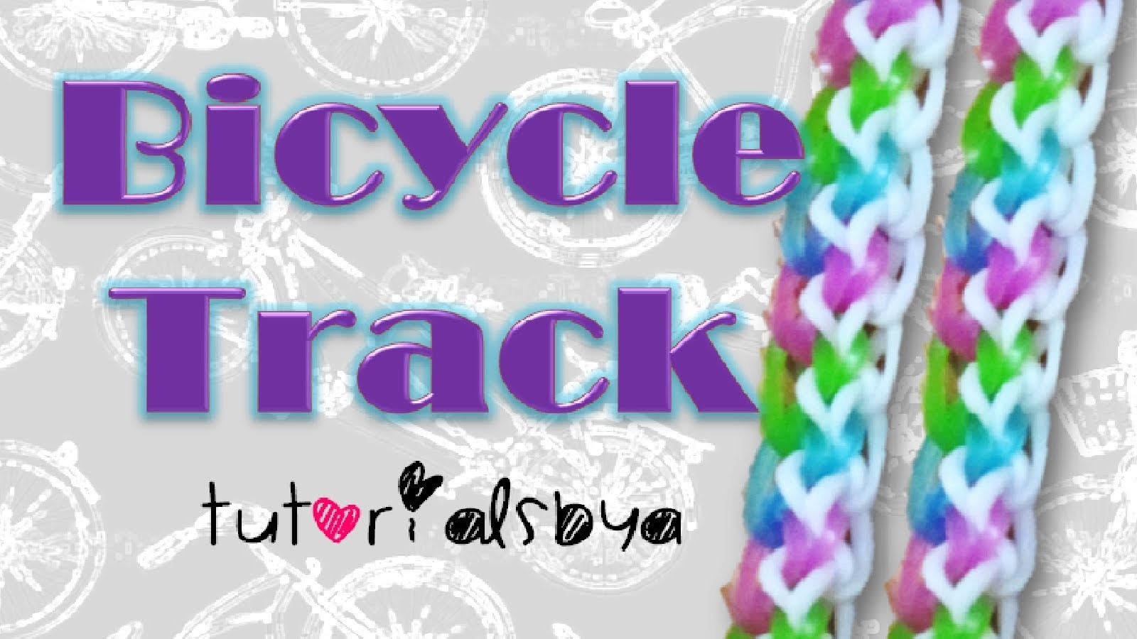 NEW Bicycle Track Rainbow Loom Bracelet Tutorial