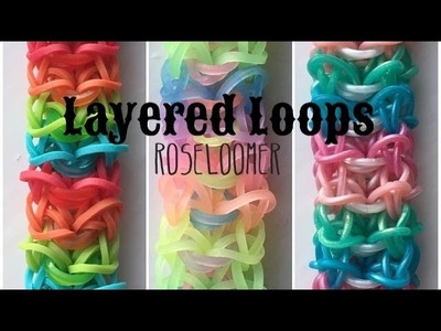 New Layered Loops Bracelet | Rainbow Loom