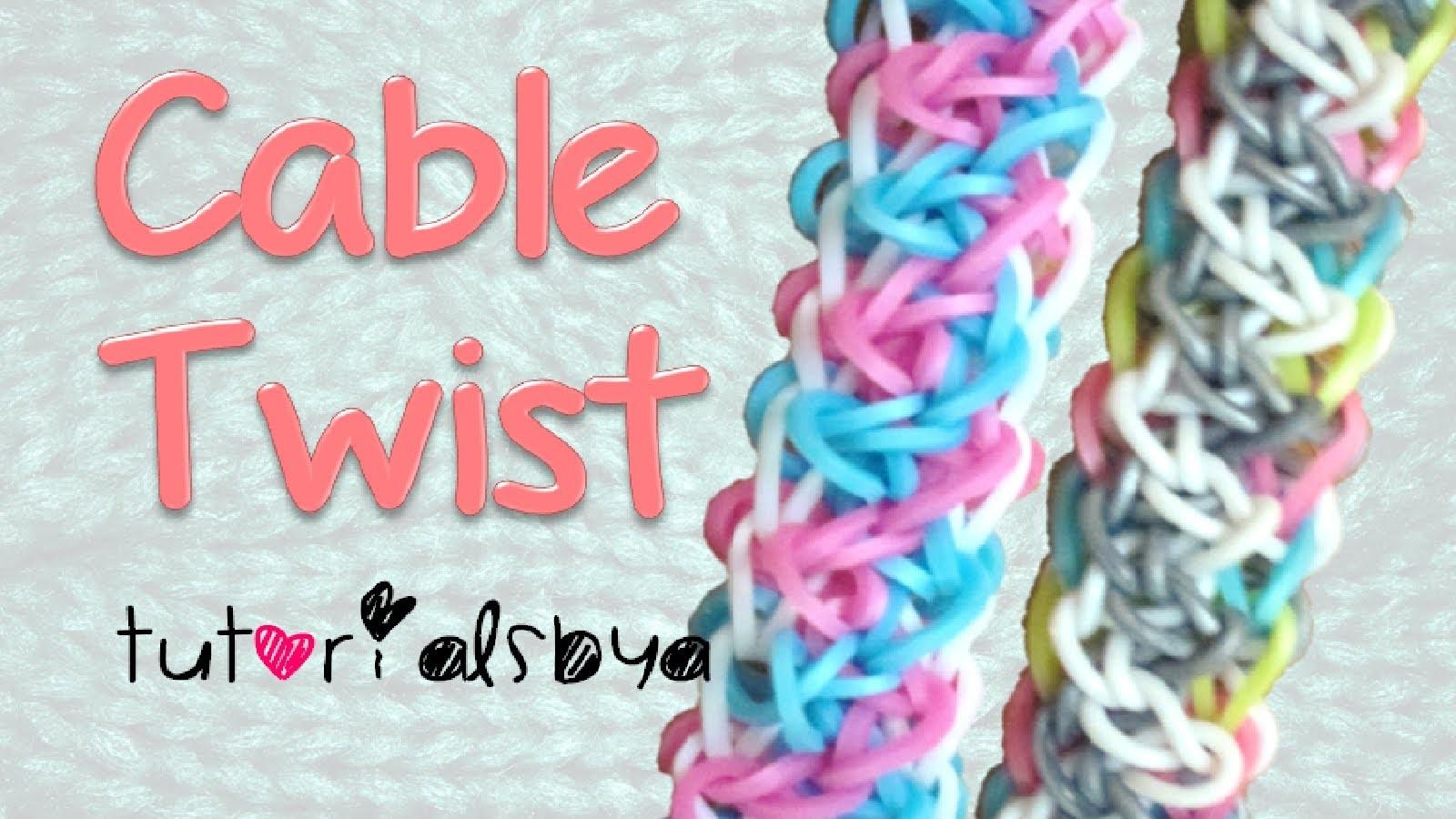 NEW REVERSIBLE Cable Twist Bracelet Rainbow Loom Tutorial