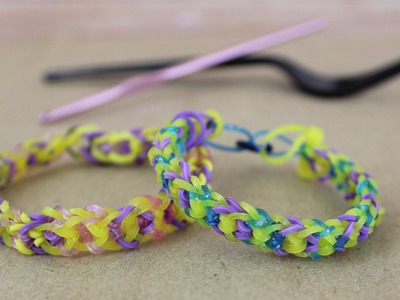 NO LOOM Inverted Fishtail Bracelet Tutorial