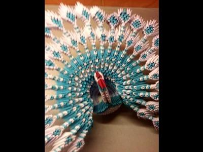 Origami 3d royal peacock tutorial in steps