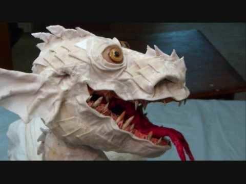 Papier Mache Dragon Marionette
