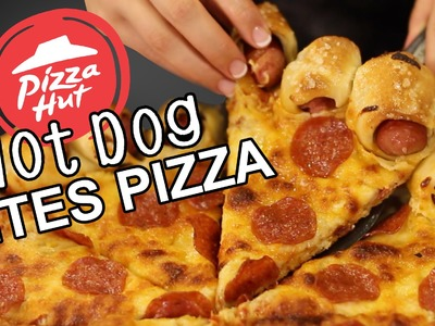 Pizza Hut Hot Dog Bites Crust Recipe Remake  |  HellthyJunkFood