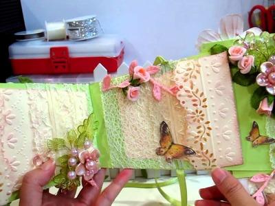 Pt 2 - Beautiful Garden Flower Pot Mini Album- msgardengrove1