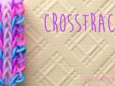 Rainbow loom bands Crosstrack bracelet tutorial