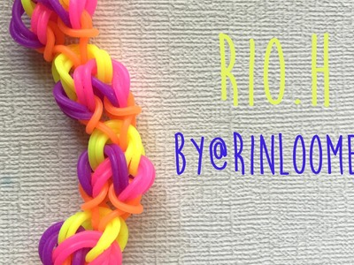 Rainbow Loom Bands Rio.H Bracelet by @RinLoomer