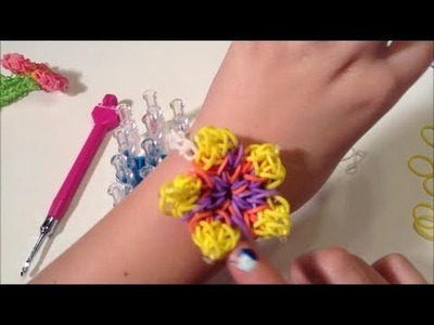 Rainbow Loom Hubiscus FLower Bracelet Charm: Warm Heart Charm Solid for Mother's Day