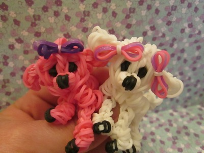 Rainbow Loom Poodle Dog or Puppy Charm. 3-D. Single Loom.