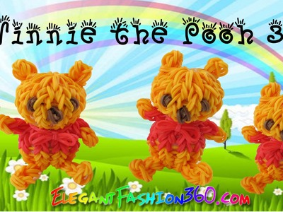 Rainbow Loom Winnie the Pooh 3D Mini Bear - How to Loom Bands