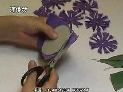 Red carnation - Paper flower making kit , Part A