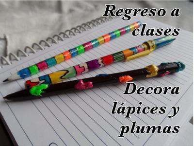 REGRESO A CLASES!! DECORA lapices y plumas