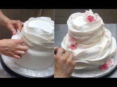 Ruffle Cake- How To - Como Hacer Una Torta Hermosa