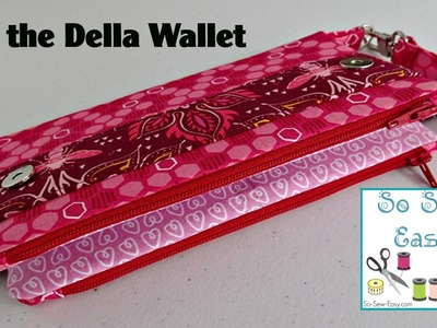 Sew the Della Wallet Clutch Bag