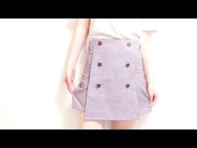 Sewing + Vintage High Waisted Skirt Shorts. Skort