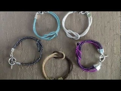 SilverSilk Love Knot Bracelet and Double Love Knot Bracelet