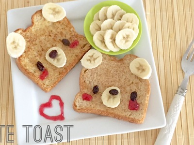 Simple Cute Toast Tutorial - Bear Toast